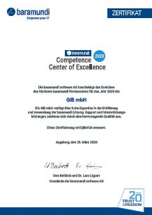 GiB Competence Center of Exellence Zertifikat
